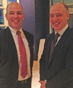 Ojemann (left) with his brother, Steve, at a neurosurgery meeting this month