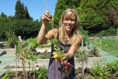 Kirsten Thompson in the garden