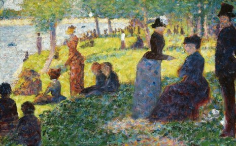"""Oil Sketch for """"La Grande Jatte"""" (1884) by Georges Seurat. Original from The Art Institute of Chicago. Digitally enhanced by rawpixel."""