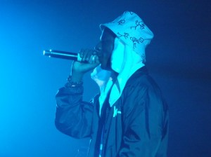 Joey Bada$$ performing his set to a roaring crowd.