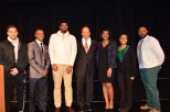 The Congressman with members of the Black Student Union