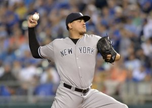 Yankees reliever Dellin Betances. Courtesy of New York Daily News.
