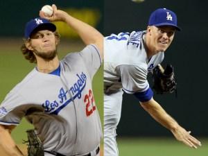 Dodgers pitchers Clayton Kershaw (left) and Zack Greinke. Photo courtesy of Google Images.