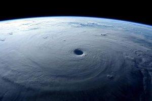 Courtesy of NASA. Hurricane Patricia from space.