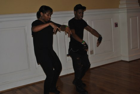 University of Maryland's Dynamic Dance Team members practicing before the show. Mya Green/Pulsefeedz Nov. 3