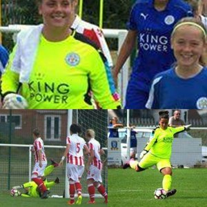 Leicester City WFC vs Stoke City Ladies FC of Vanessa Kinnerley wearing the Pulse P1 Model.