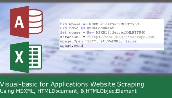 Extract web page data and save in database