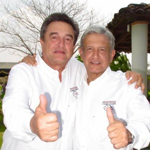 Pío López Obrador (left) with his brother, Mexican President Andrés Manuel López Obrador.