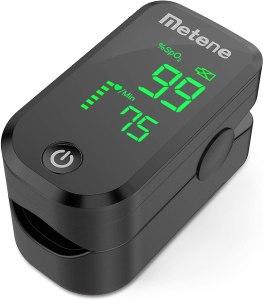 Metene finger pulse oximeter