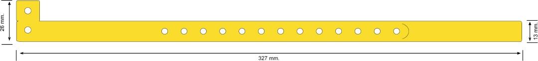 Trilaminada 13 mm, amarillo neón
