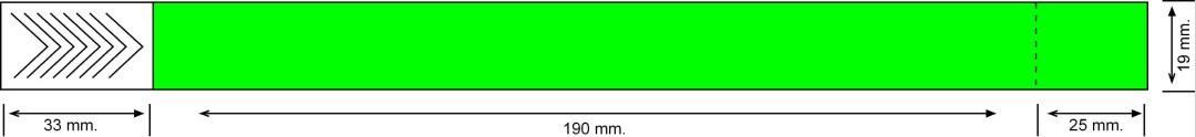 Tyvek 19 mm con cupón, lima neón