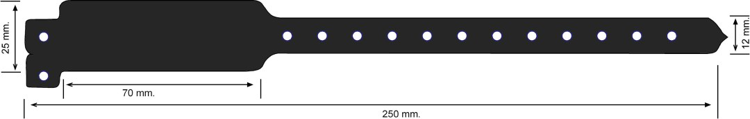 Vinilo 25 mm, negro
