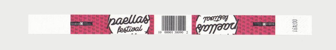 Controlband con código de barras impreso