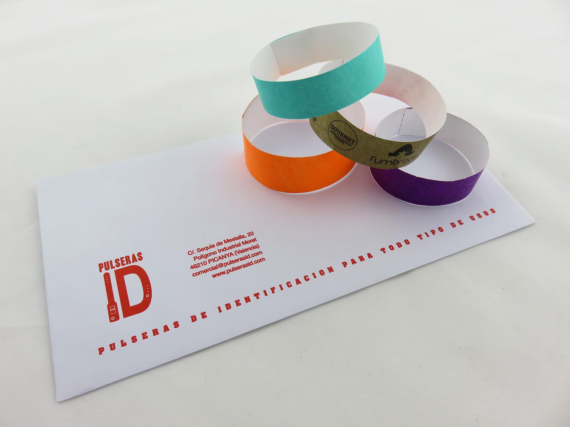 963c020492bd Dónde comprar pulseras de papel para eventos - Pulseras ID