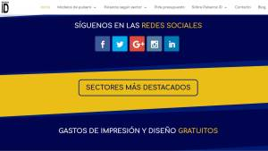 Iconos de las redes sociales de la nueva web de Pulseras ID