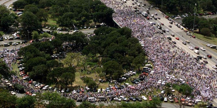 Marcha Paz para Vieques. 22 de febrero de 2000