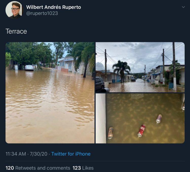 Reportan inundaciones en el RUM tras el paso de la tormenta Isaías