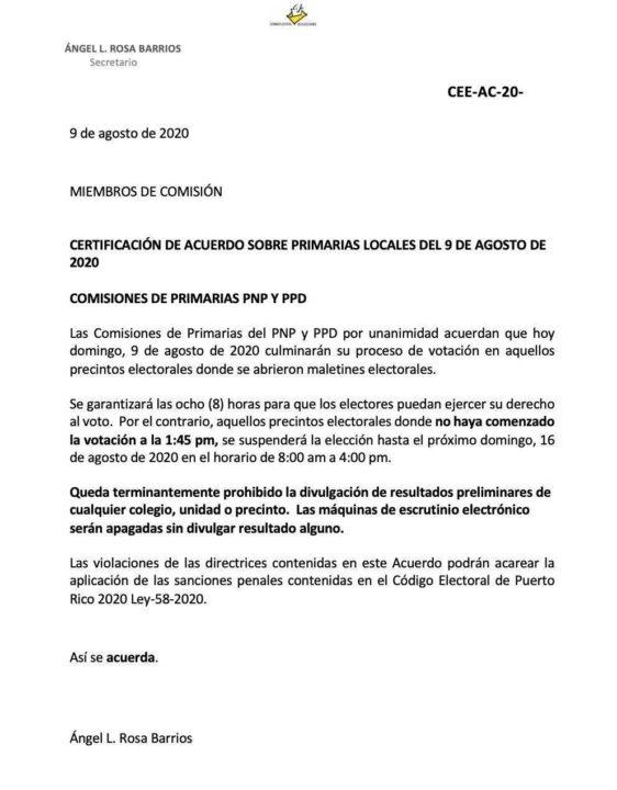 Suspenden parte de las primarias ante proceso atropellado de entrega de materiales en Puerto Rico