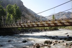 A bridge connects two Tajik settlements