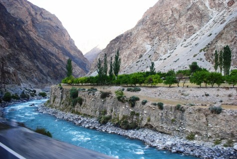 A number of small rivers with pure water coming from glaciers is met on the way from Dushanbe to Khujand