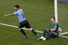 Lucho Suárez festeja el 1 a 0 del equipo