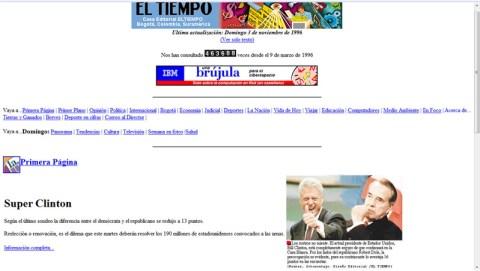 ElTiempo.com en 1996
