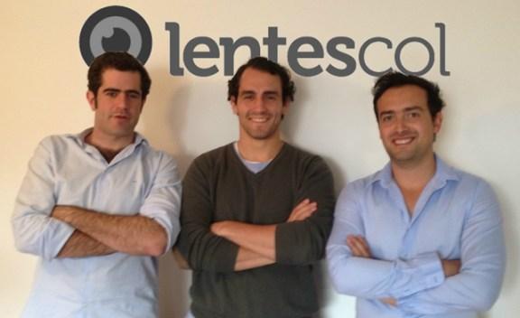Jaime Oriol, Nouras Haddad y Diego Mariño, el equipo emprendedor de Lentescol.