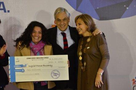 Ingrid Ponce fue la única mujer que ganó en el Concurso de Ideas Imagina Chile.