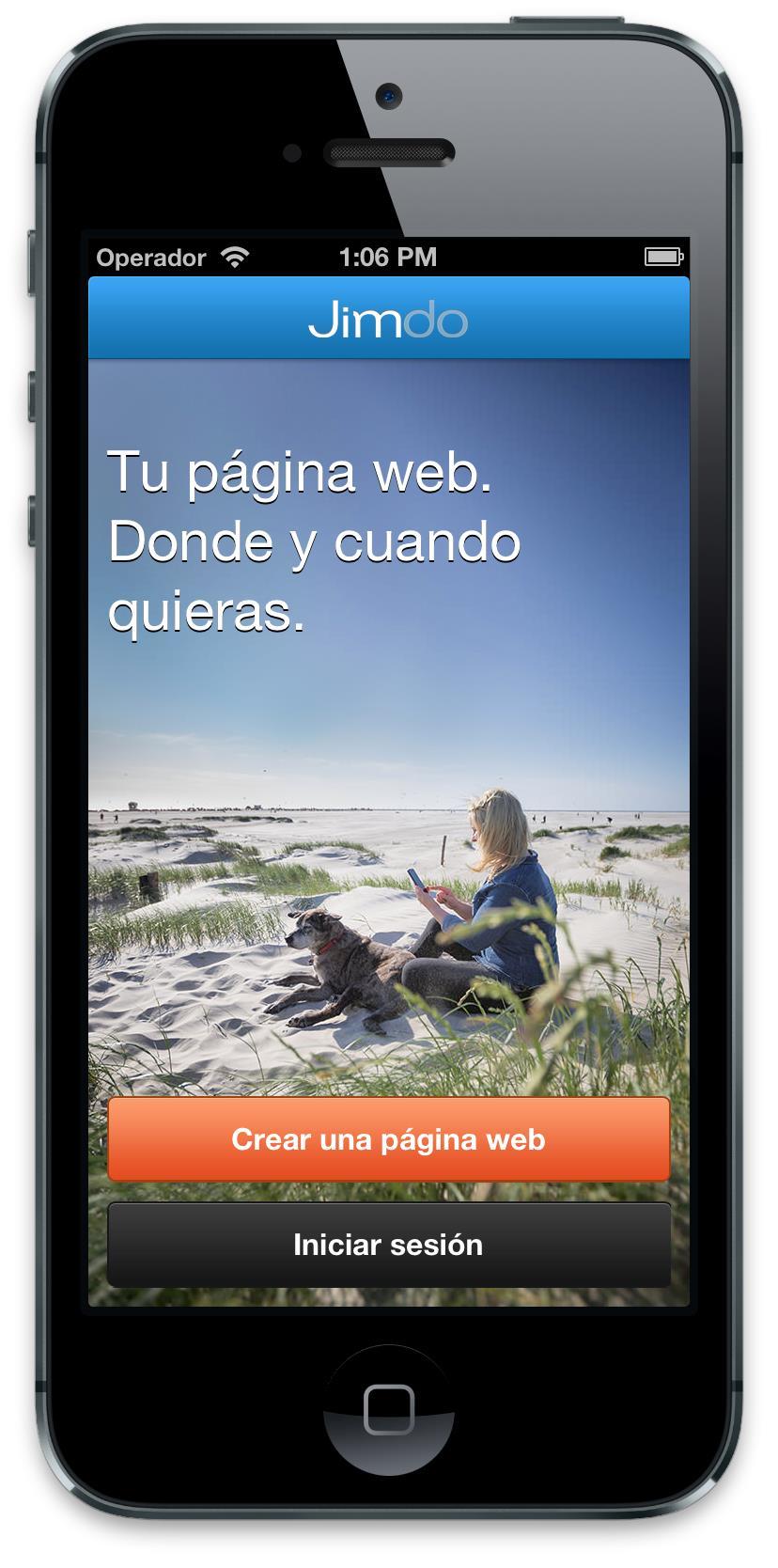 Jimdo App iOS1