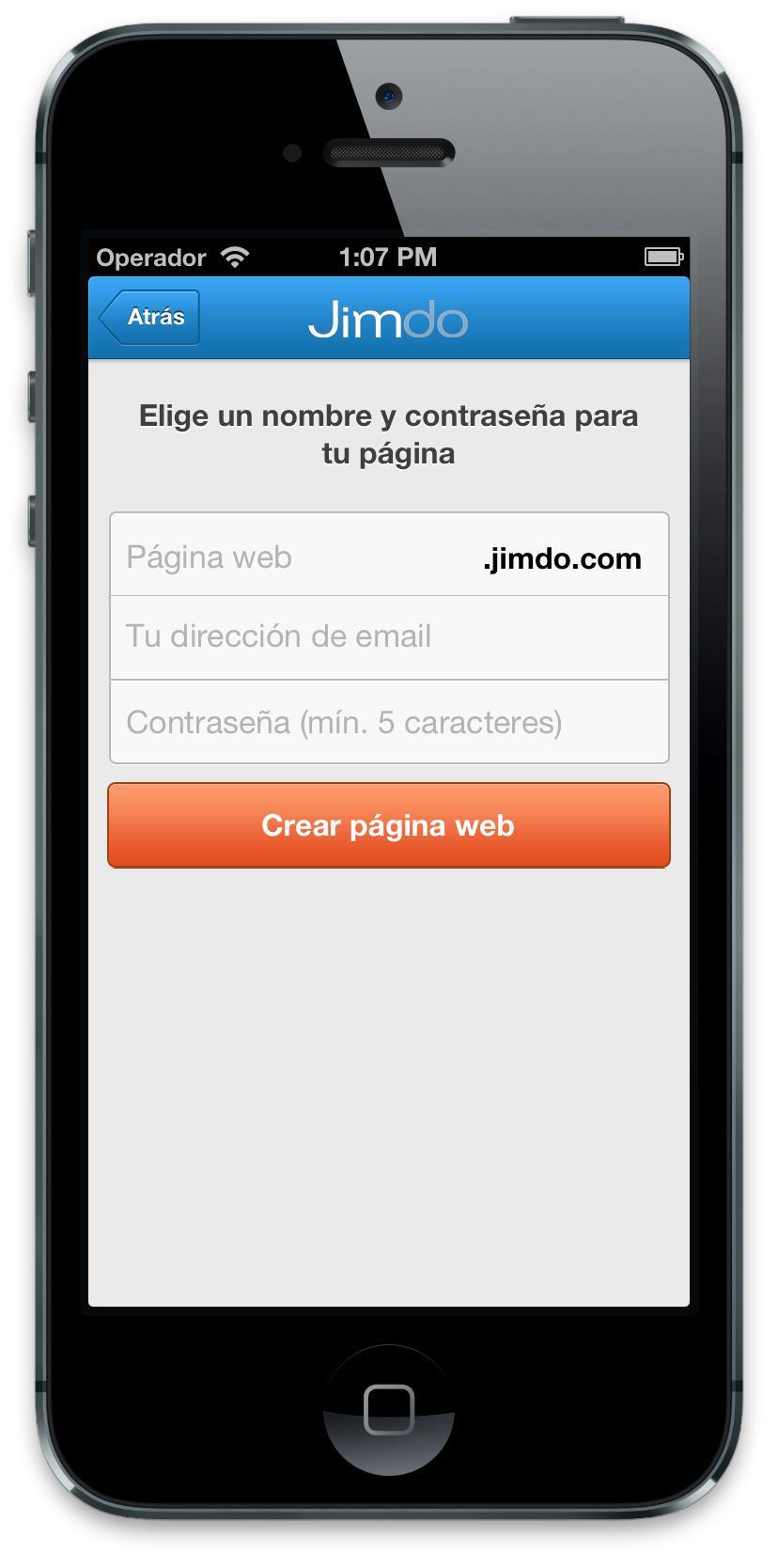 Jimdo App iOS4