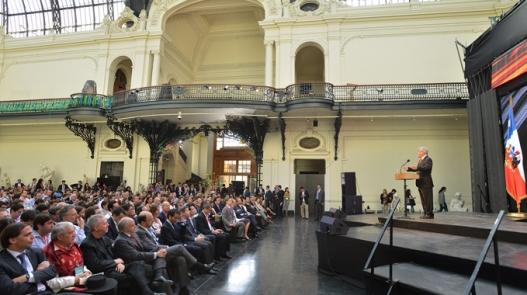 El Presidente de Chile, Sebastián Piñera, en el Foro de la Alianza del Pacífico.