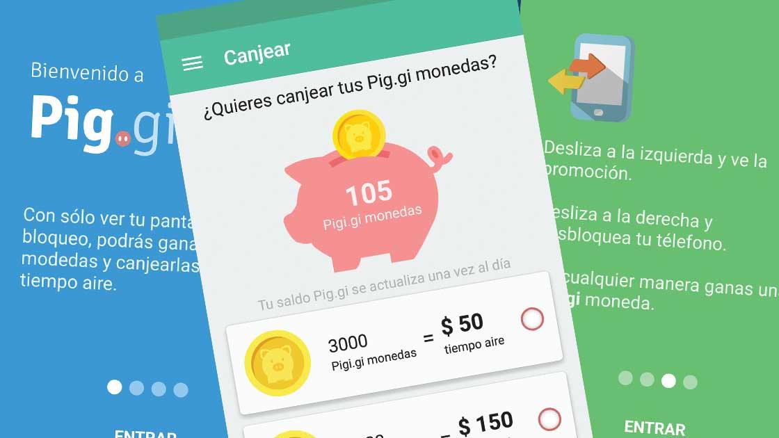 Ahora con la nueva actualización de Pig.gi es más fácil ganar tiempo aire