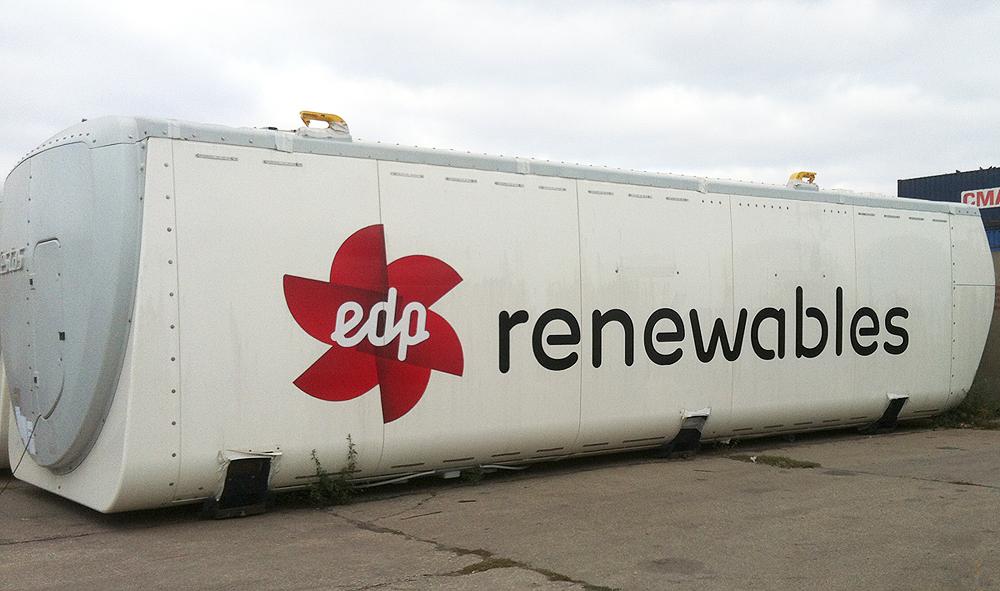 Colantare nacele eoliene EDP Renewables