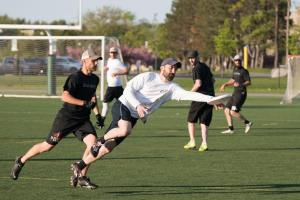 Glenn laying out for a disc