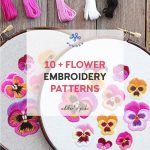 Flower Embroidery Patterns Kits Floral Stitches For Your Home Pumora All About Hand Embroidery
