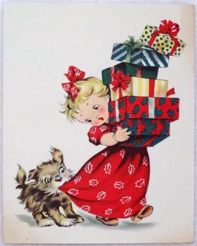 Sparkle 166 Vintage Holiday Cards Pumpernickel Pixie