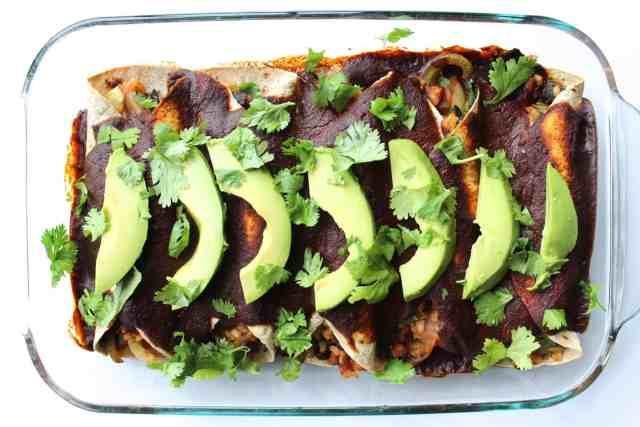 Vegan Burrito Bowl Enchiladas