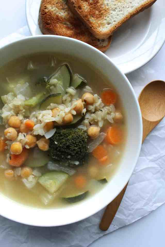 {Healing} Chickpea Rice Soup