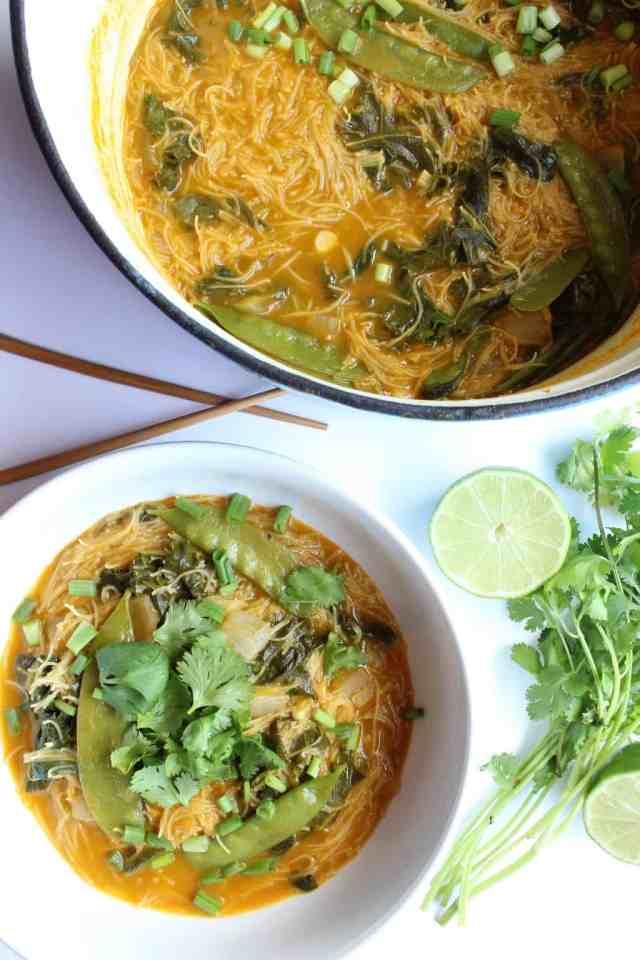 Coconut Green Curry Soup // pumpkin & peanut butter