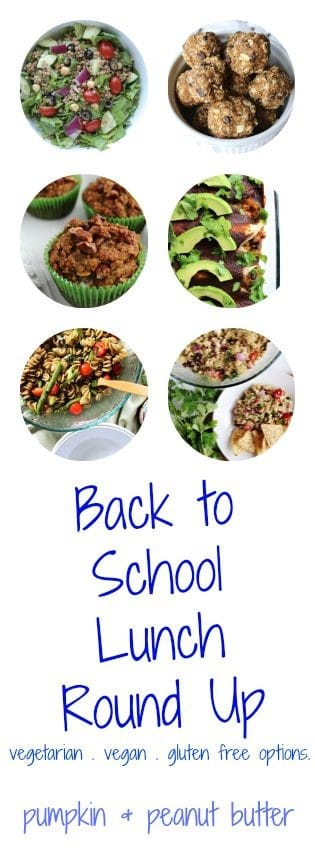 Back to School Lunch Round Up // pumpkin & peanut butter