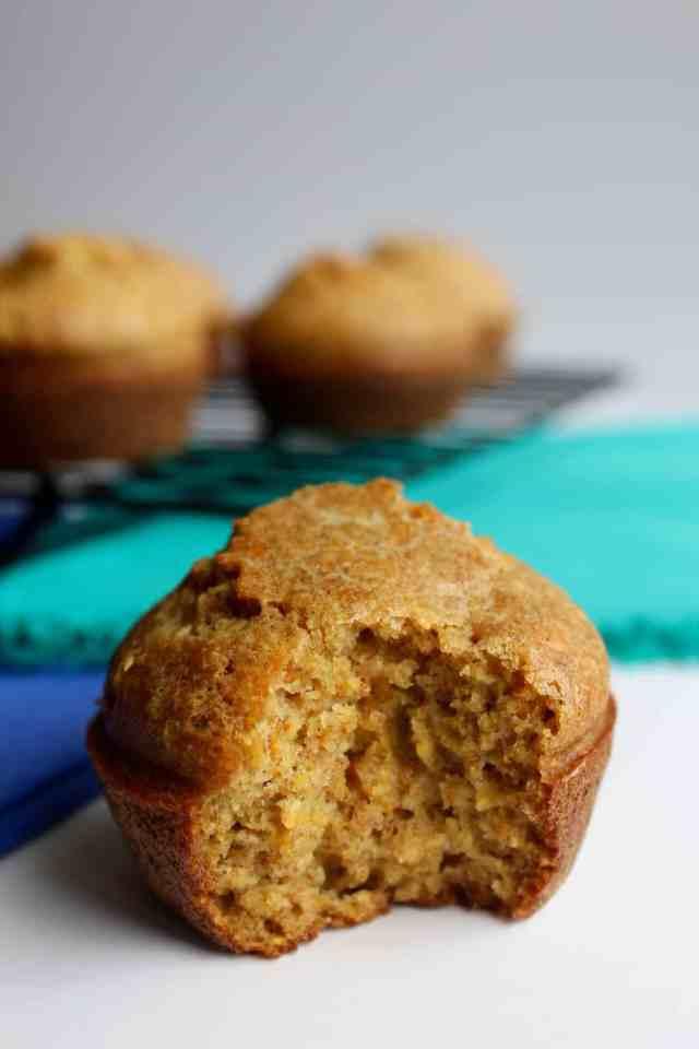 Whole Grain Cornbread Muffins // pumpkin & peanut butter