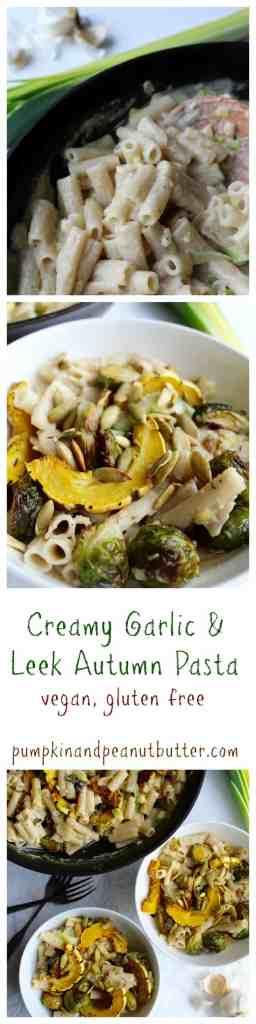 Creamy Garlic & Leek Autumn Pasta // pumpkin & peanut butter