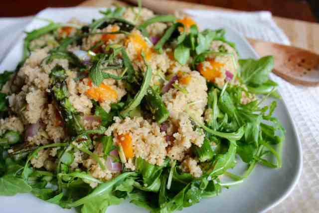 Roasted Butternut Couscous Salad // pumpkin & peanut butter
