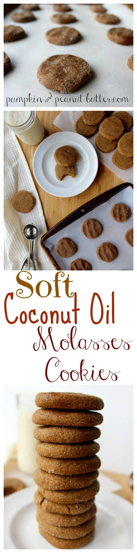 Soft Coconut Oil Molasses Cookies Pumpkinandpeanutbutter