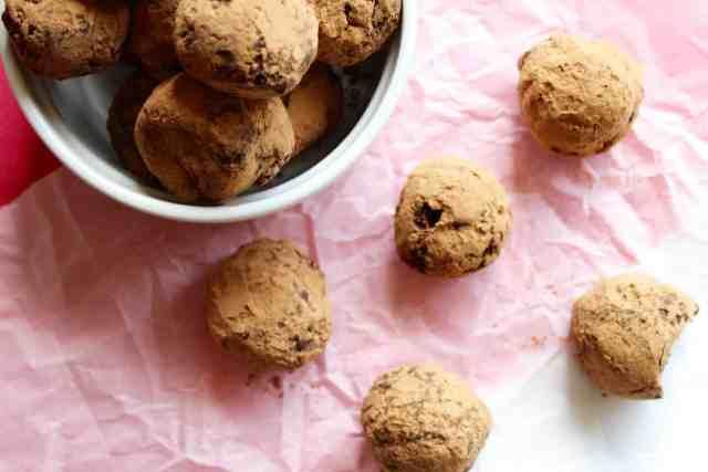 Dark Chocolate Chai Truffles // pumpkin & peanut butter