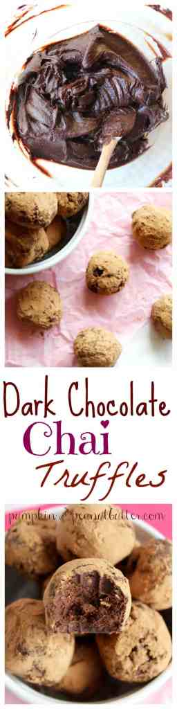 Dark Chocolate Chai Truffles // pumpkin & peanut butter