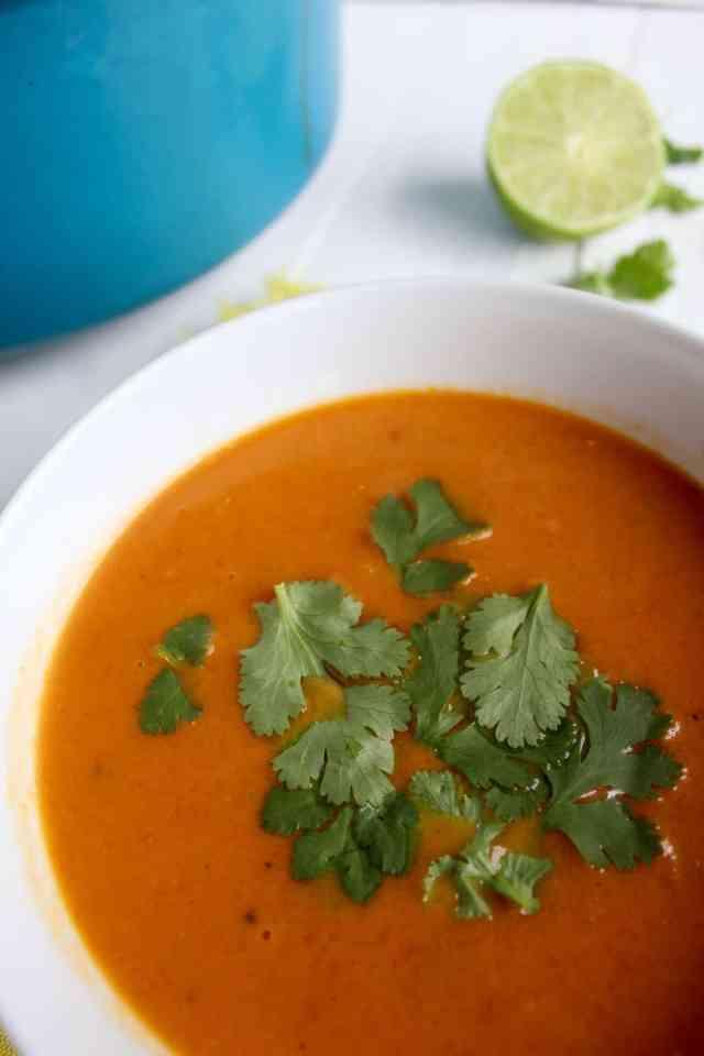 Thai Tomato & Squash Soup // pumpkin & peanut butter