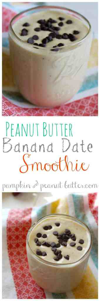 Peanut Butter Banana Date Smoothie {vegan} // pumpkin & peanut butter