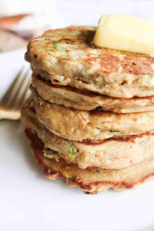 Zucchini Bread Coconut Flour Pancakes {gluten free, grain free} // pumpkinandpeanutbutter.com