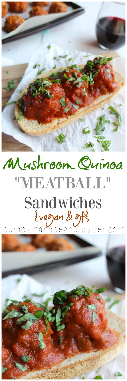 Mushroom quinoa meatball sandwiches pumpkinandpeanutbutter mushroom quinoa meatball sandwiches vegan gf option pumpkin peanut butter forumfinder Images